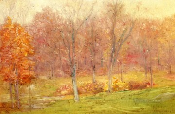 Julian Alden Weir Painting - Autumn Rain Julian Alden Weir